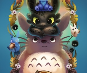 disney, toothless, and totoro image