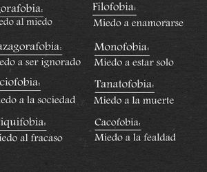 fear, frases, and phobias image