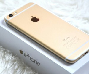 apple, gadget, and gold image