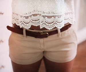 creamy, girl, and lace image