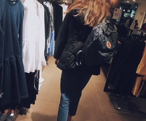 aesthetic, backpack, and blackandwhite image