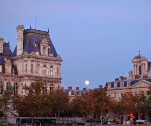 city, paris, and evening image