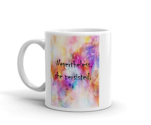etsy, motivational mug, and she persisted quote image