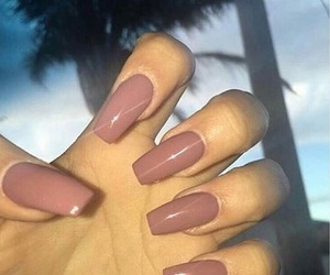 brown and nails image