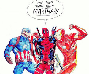 deadpool, captain america, and iron man image