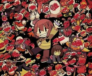 chara, undertale, and ❤ image
