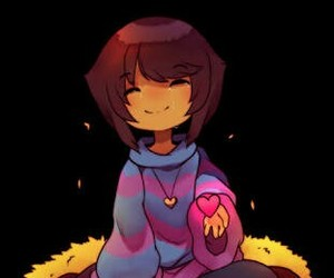 frisk, undertale, and pacifista . image