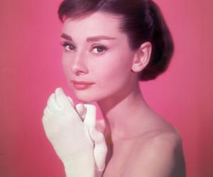 audrey hepburn and pink image