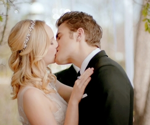 paul wesley, candice accola, and steroline image