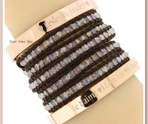 bangles, name bracelet, and quote bracelet image