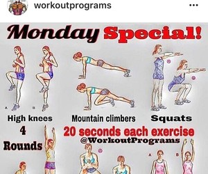 sports, workout, and workout plan image