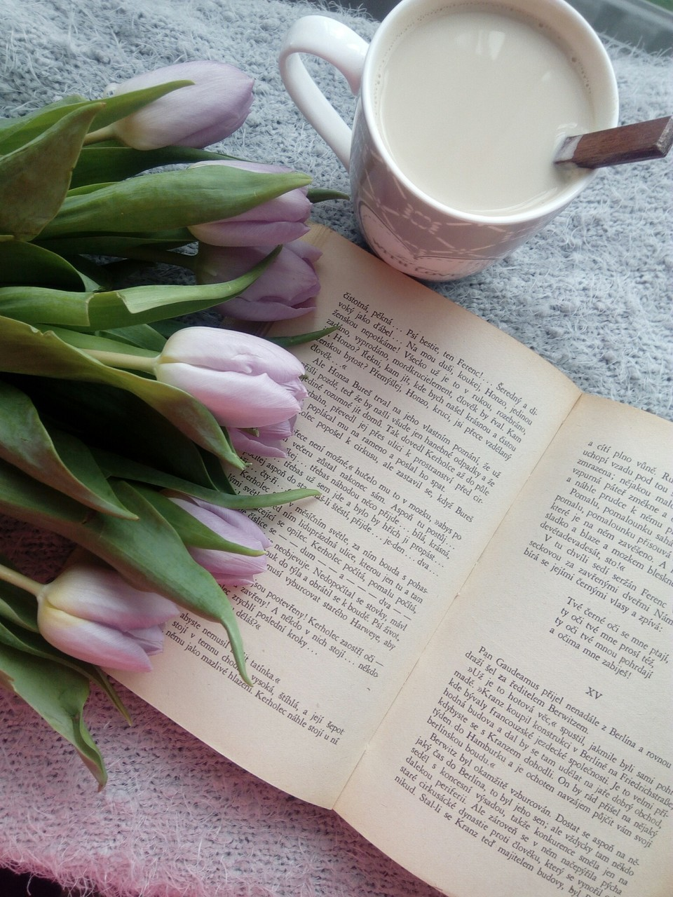 coffe, flowers, and Nice day image