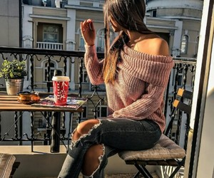 alone, girl, and jeans image