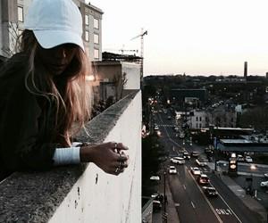 city life and girl image