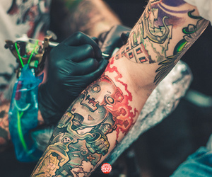 arm, robot, and tattoo image