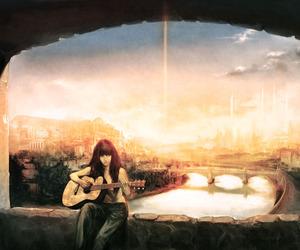 girl and guitar image