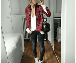 moda, W, and koszula image