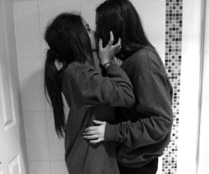 girl, love, and kiss image