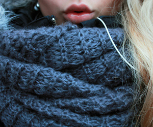 girl, scarf, and lips image