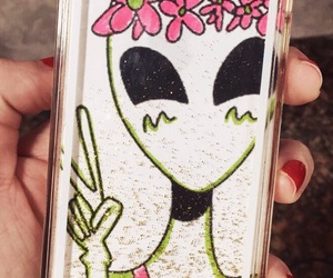 alien, iphone, and diy image