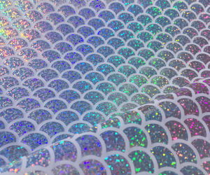 aesthetic, holographic, and mermaid image