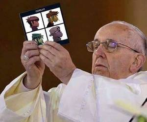 gorillaz and pope image