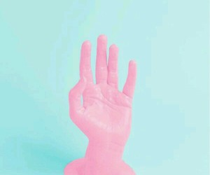 pink, blue, and hand image