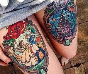 beauty and the beast, belle, and rose image