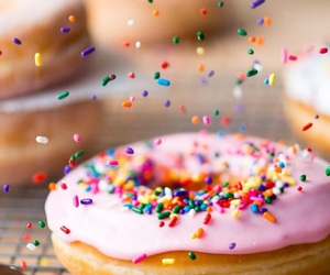 donut, sprinkles, and sweets image