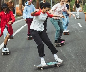 friendship, photography, and skaters image