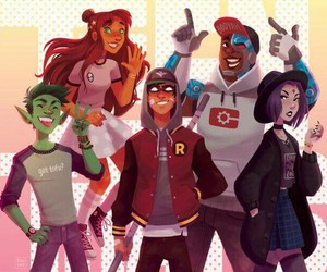 teen titans, comic, and raven image