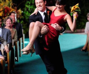 glee, lea michele, and finchel image