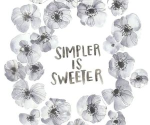 simple, flowers, and quotes image
