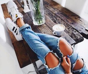 adidas, girl, and jean image