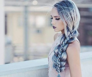 aesthetic, braid, and grey image