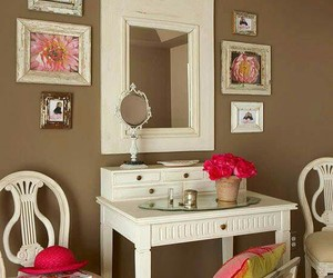 dressing table, home decor, and make-up table image