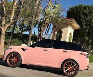 car, velvet, and pink image