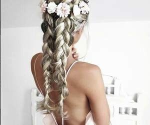 aesthetic, blonde, and braid image