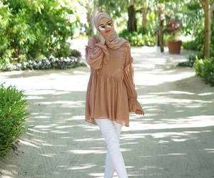 boots, hijab, and sweater image