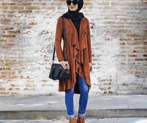 waterfall camel cardigan image