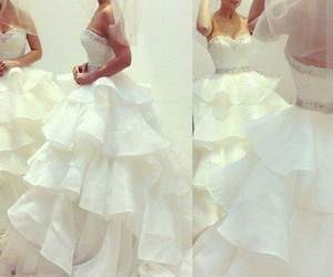 strapless, sweetheart neckline, and bridal dress image