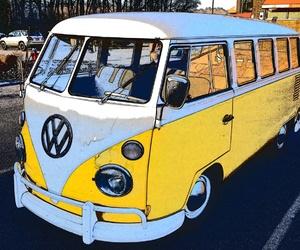 bus, retro, and vintage image