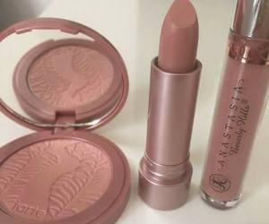 lipstick, make up, and Nude image