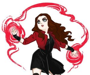 fanart, Marvel, and scarlet witch image