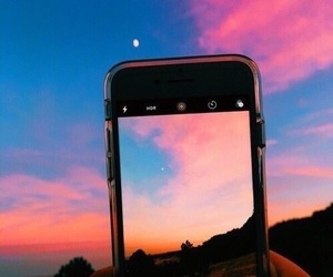 sky, sunset, and iphone image