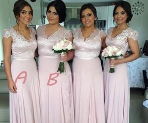 dress, bridesmaid dresses, and long bridesmaid dress image