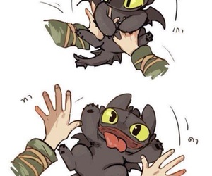 toothless, dreamworks, and hiccup image