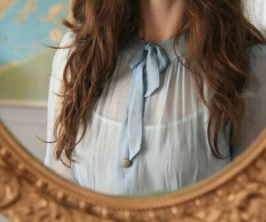 mirror, vintage, and hair image