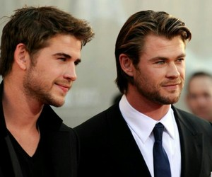 liam hemsworth, chris hemsworth, and brothers image