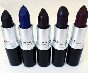 mac, lipstick, and black image